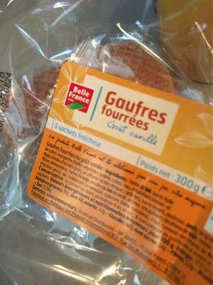Gaufres Fourrées Goût Vanille - Produit