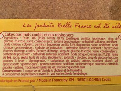 Cake au fruits confits & raisins secs - Ingrédients - fr