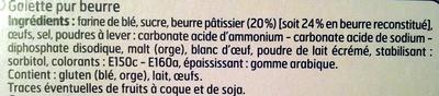 Galettes bretonnes - pur beurre - Ingrédients - fr