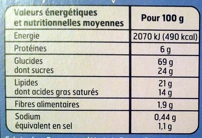 Galettes bretonnes - pur beurre - Informations nutritionnelles - fr