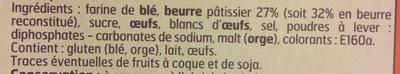 Palets bretons - Ingredients - fr