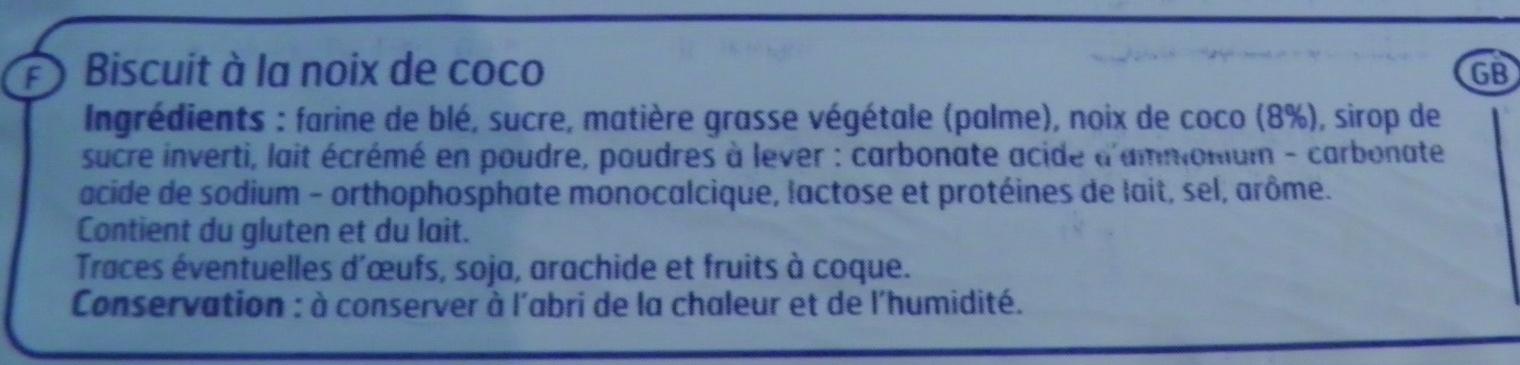 Sablés Coco Belle France - Ingrédients - fr