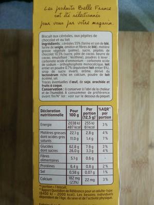 Biscuits Petit Déjeuner Chocolat/Céréales 400 g Lot de 5 - 3