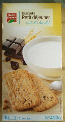 Biscuits Petit Déjeuner Chocolat/Céréales 400 g Lot de 5 - Produit