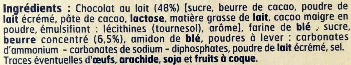 Petit Beurre Pocket Chocolat au Lait - Ingrédients - fr