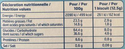 Petit Beurre Pocket Chocolat au Lait - Informations nutritionnelles - fr