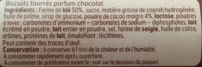 Goûters fourrés - Ingrédients
