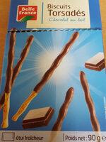 Biscuits torsades  chocolat au lait - Produit - fr