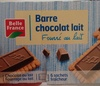 Barre chocolat lait, fourré au lait - Product