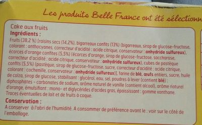 Cake aux fruits - Ingrediënten - fr