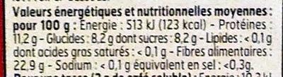 Café soluble Sélection - Nutrition facts - fr