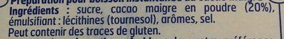 Poudre instantanee - Ingredients