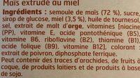 Boules de Maïs au miel - Ingrédients - fr