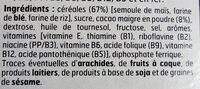 Boules de céréales goût Chocolat - Ingrédients - fr