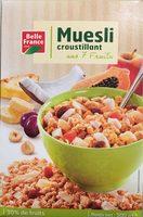 Muesli croustillant aux 7 fruits - Produit - fr