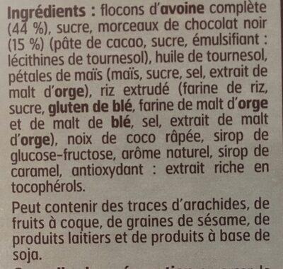 Muesli Croustillant au Chocolat Noir - Ingredients - fr