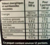 Muesli Croustillant au Chocolat Noir - Nutrition facts - fr