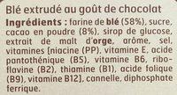 Pétales de Blé goût chocolat - Ingrédients - fr