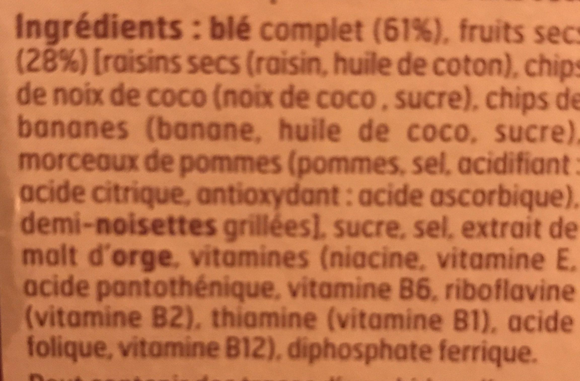 Fruits & fibres au blé complet - Ingrédients - fr
