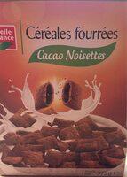 Céréales Fourrées Cacao Noisettes - Produit - fr