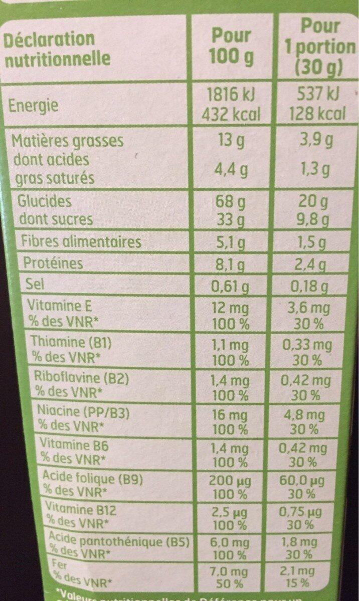 Céréales Fourrées Cacao Noisettes - Informations nutritionnelles - fr