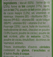 Céréales fourrées - Ingredients - fr