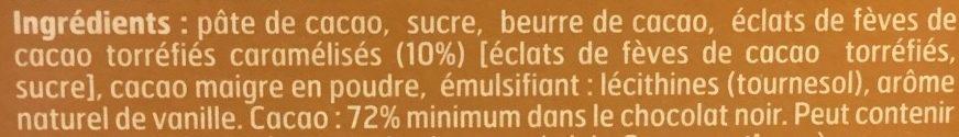Chocolat noir feves de cacao - Ingrédients - fr
