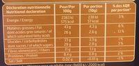 Chocolat noir feves de cacao - Informations nutritionnelles - fr