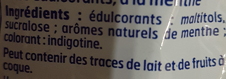 Bonbons a la menthe sans sucre - Ingrédients - fr