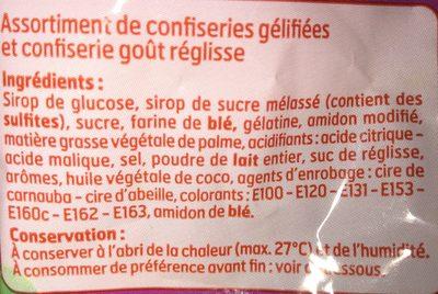 Sac Assort & Reglisse - Ingredients