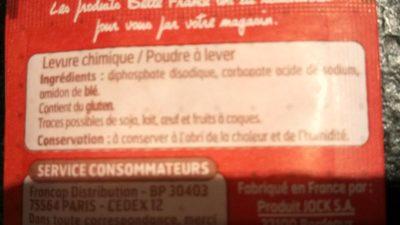L. 6 S. Levure Chimique B. F - Ingrédients