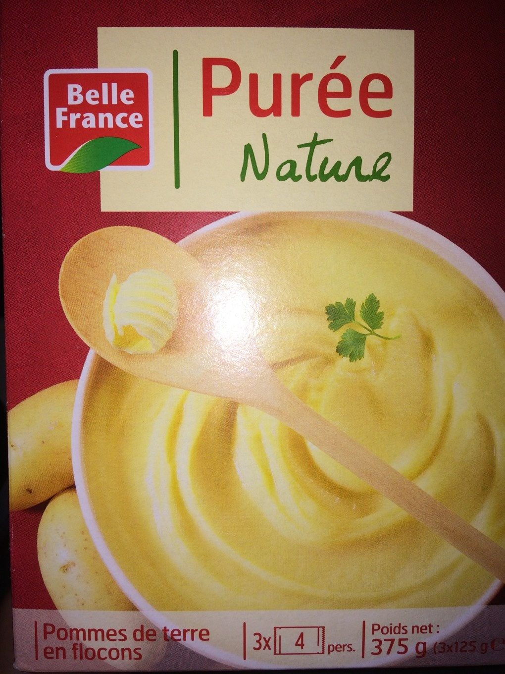 puree nature 3x 125g belle france. Black Bedroom Furniture Sets. Home Design Ideas