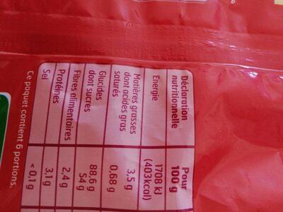Popcorn Sucré - Informations nutritionnelles - fr