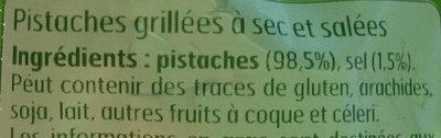 Pistaches grillées à sec - Ingrédients - fr