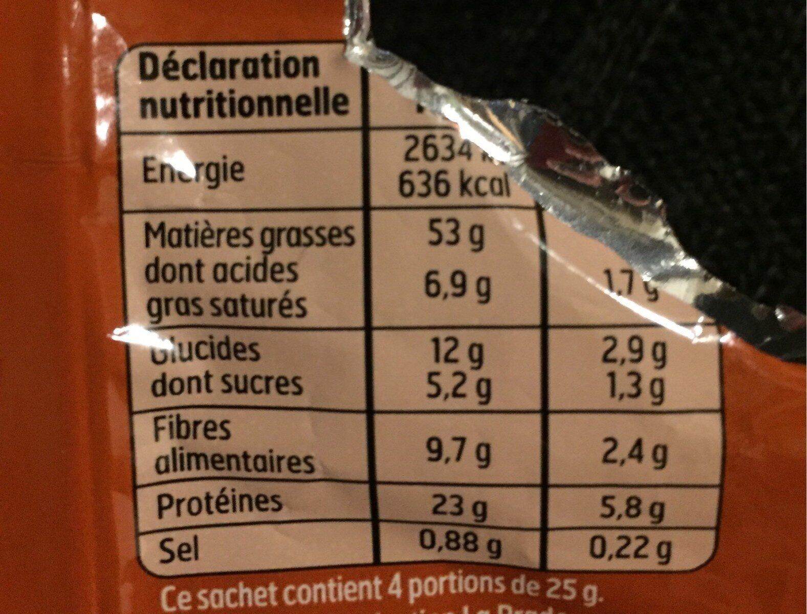 Melange grillé et salé - Informations nutritionnelles