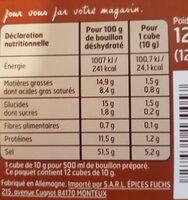 Bouillon Pot Au Feu - Voedingswaarden - fr