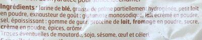 Sauce Bechamel - Ingredients - fr
