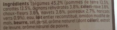 Mouliné de légumes - Ingrédients - fr