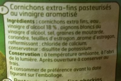 Cornichons extra-fins - Ingrediënten - fr
