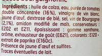 Sauce Bourguignonne - Ingrédients