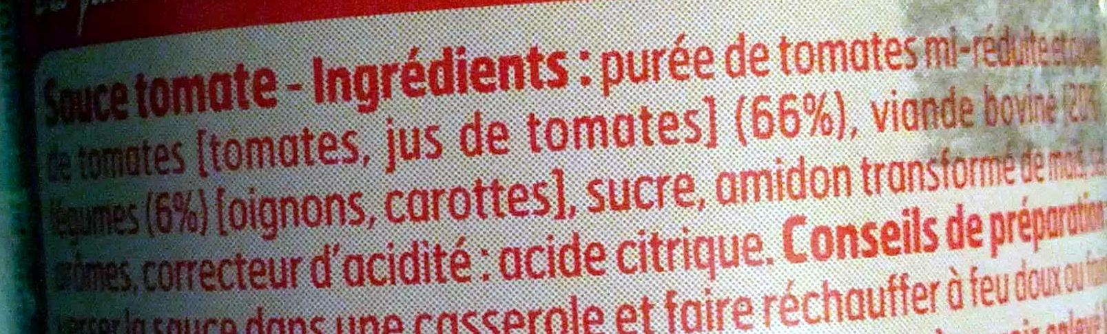 Sauce Bolognaise - Ingredients