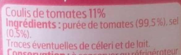Coulis de Tomate - Ingrédients - fr