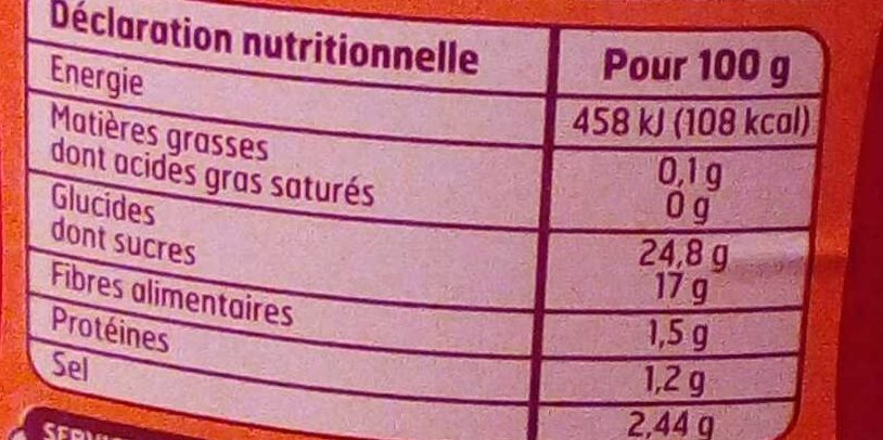 Tomato Ketchup Épicé - Nutrition facts - fr