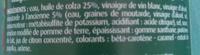 Vinaigrette moutarde à l'ancienne allégée en matière grasses - Ingrédients - fr