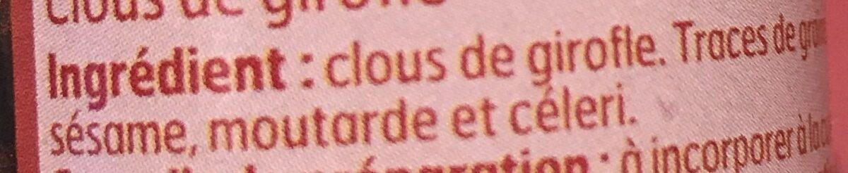 Clous de gironfle - Ingrediënten - fr