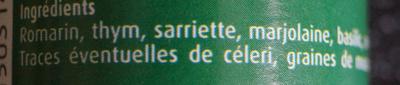 Herbes de Provence - Ingrediënten - fr