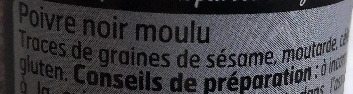 Poivre gris Moulu - Ingrédients