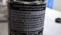 Poivre gris Moulu - Informations nutritionnelles