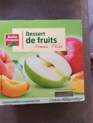Dessert de fruits Pomme Pêche - Product - fr
