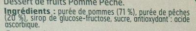 Dessert de fruits Pomme Pêche - Ingredients